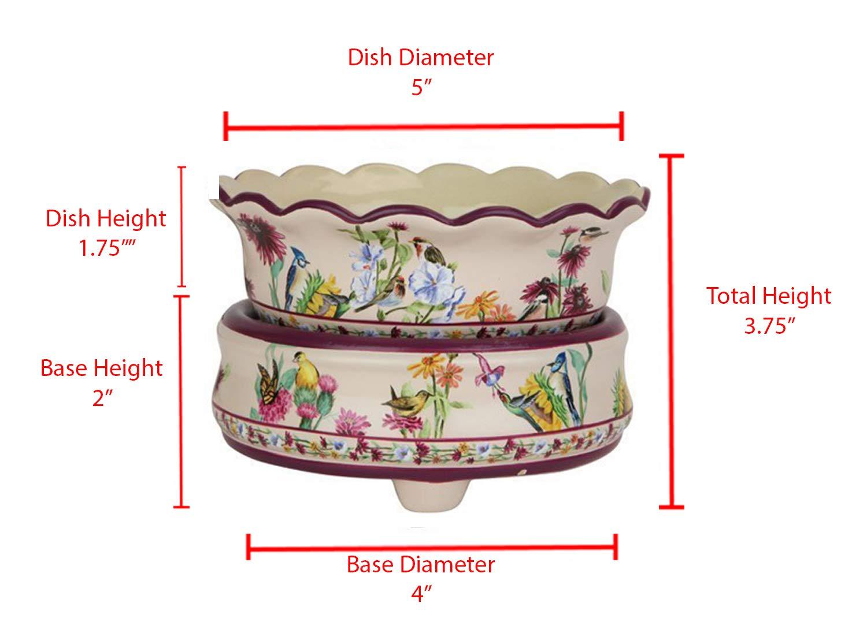 Original Candle Warmer - Electric 2-in-1 Fragrance Air Freshener - 2 Piece Ceramic Melt Tart Wax Cube Melter - Eliminate Odors - Bird Pattern by OBI (Image #2)