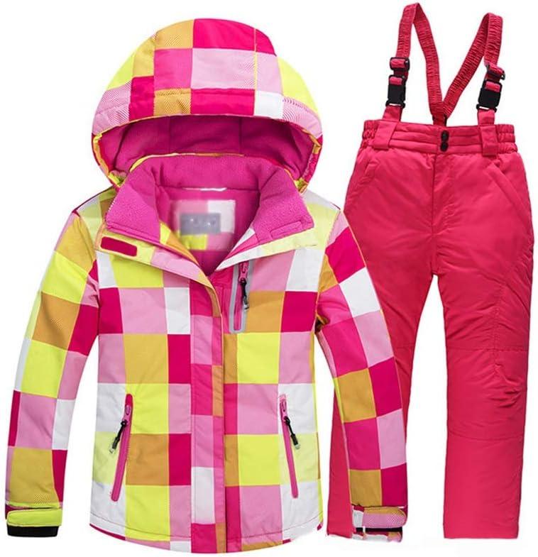 Chaqueta de los ni/ños de esqu/í De los ni/ños de esqu/í juego determinado de acolchado chaqueta impermeable al aire fr/ío al aire libre Monta/ñismo Traje nieve del juego 2pcs chaquetas con los pantalones d