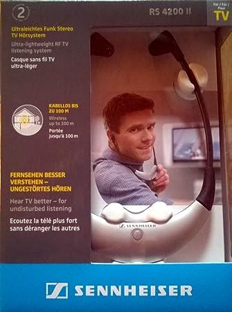 Sennheiser RS 4200 II Negro, Plata Intraaural Estetofónico auricular - Auriculares (Intraaural, Estetofónico