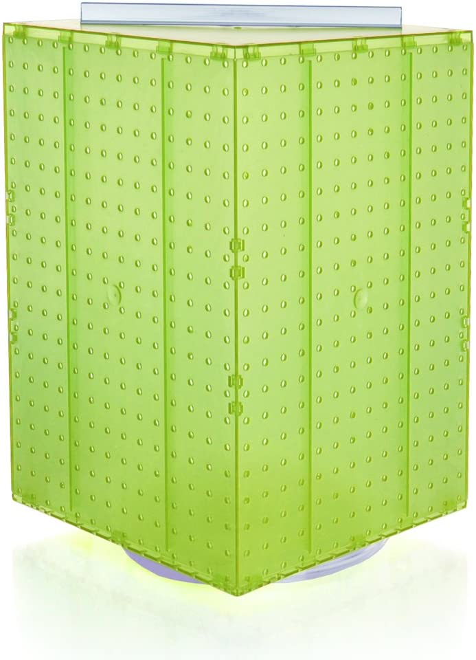 B008M7RL32 Azar 701414-GRE Pegboard 4-Sided Revolving Counter Display, Green Translucent Color 61o2Key3Z2L