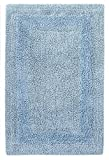 Cotton Craft Reversible Step Out Bath Mat Rug Set 30x48 Spa Blue, 100% Pure Cotton, Super Soft, Plush & Absorbent, Hand Tufted Heavy Weight Construction, Full Reversible, Rug Pad Recommended
