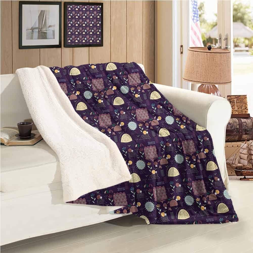 Throw Blanket,Cashmere Blanket Throw Size Home Decor Hedgehog Premium Microfiber Blanket All Season Warm Super Soft Best for Christmas