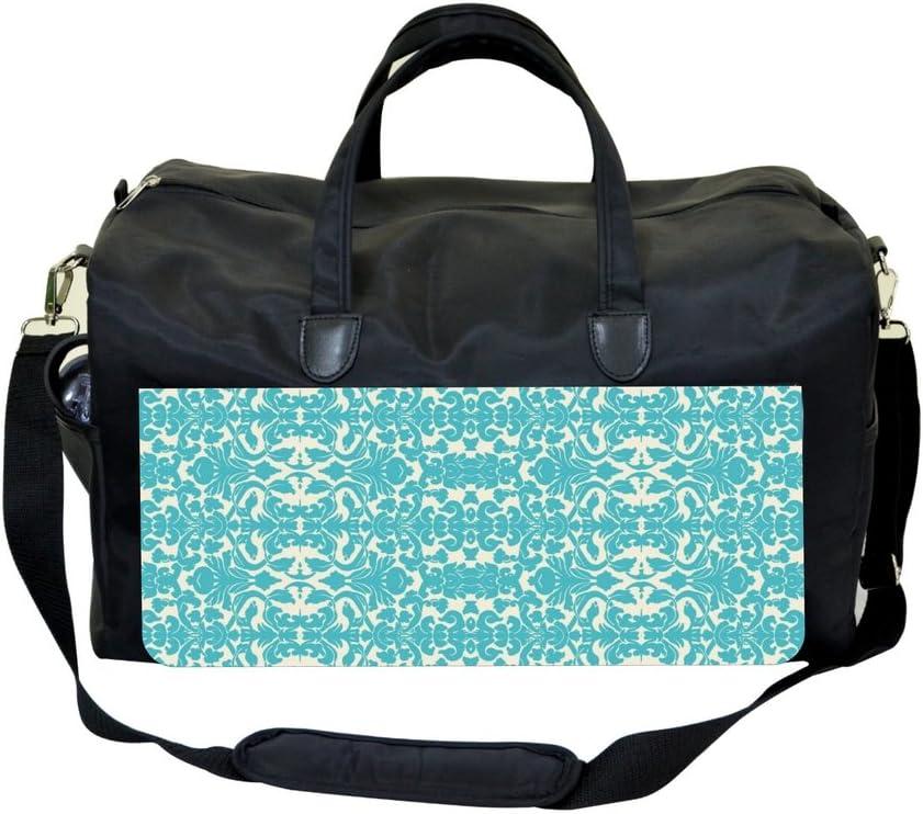 Jacks Outlet Blue Damask Print Sports Bag