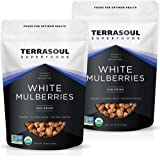 Terrasoul Superfoods Organic Sun-dried White Mulberries, 2 Lbs (2 Pack) - Low Glycemic | Naturally Sweet | Rich in…