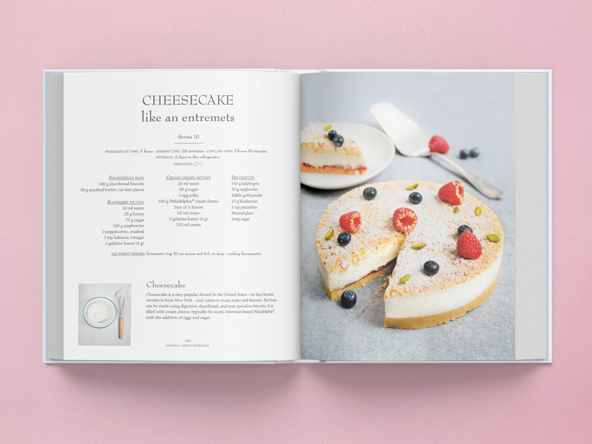 Le Cordon Bleus Pastry School Bleu Premium Blueberry Cheese Cake 20cm 9781911621201 Books