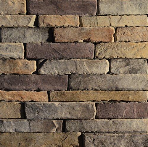 Cultured Manufactured Stone Veneer Wall Siding - Dry Stack Ledgestone - Chesapeake