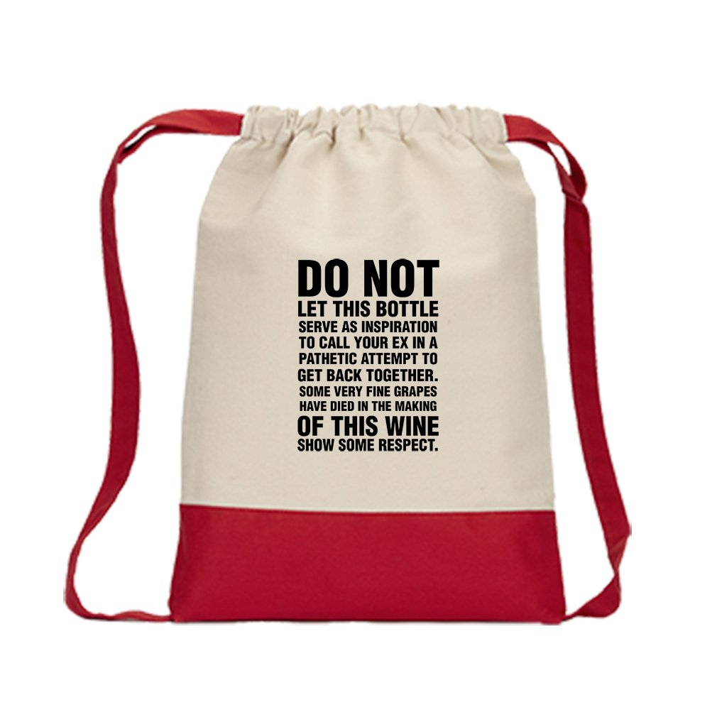 Back Together Fine Grapes Have Died In Canvas Backpack Color Drawstring Bag - Red