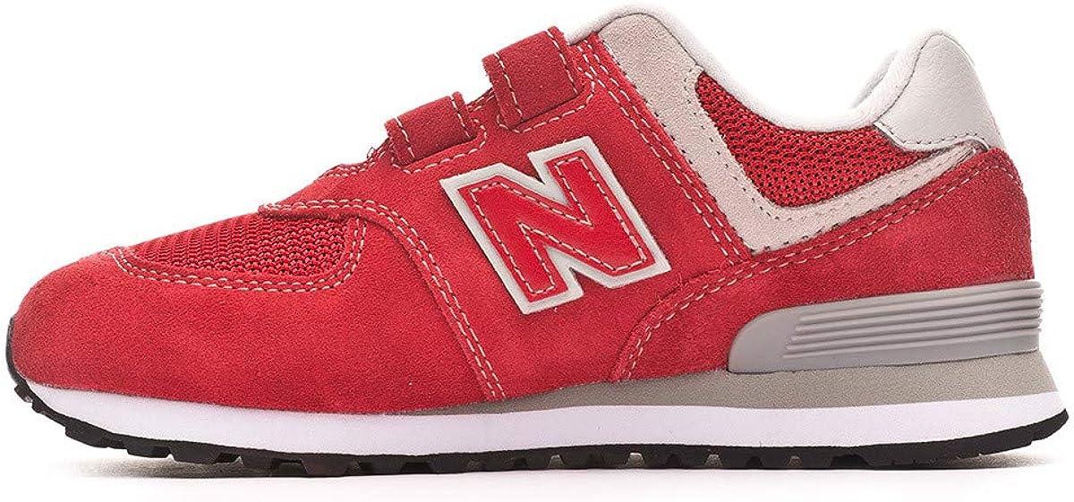 Red-Grey New Balance 574 Scratch Niño Baskets Chaussures et Sacs ...