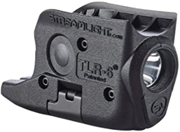 Streamlight 69272 TLR-6 Tactical Pistol Mount Flashlight 100 Lumen with Integrated Red Aiming Laser Designed Exclusively and Solely for Glock ...