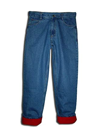 Men's Relaxed fit Fleece lined Insulated Jeans at Amazon Men's ...