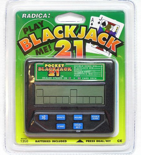 Radica Pocket Blackjack 21 LCD Hand-Held Model# 1350