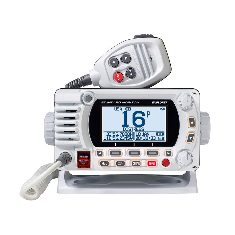 Standard Horizon 1850G Fixed Mount VHF w/GPS - White [GX1850GW] by Standard Horizon