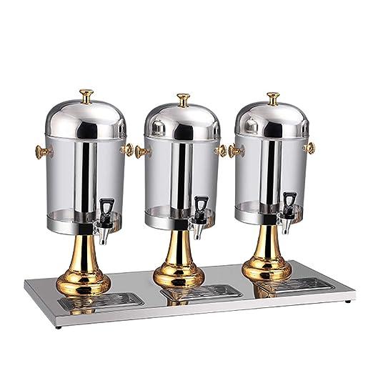 HOUSHIYU-521 Comercial Bebida Dispensador, Tres Cabezas Beber ...