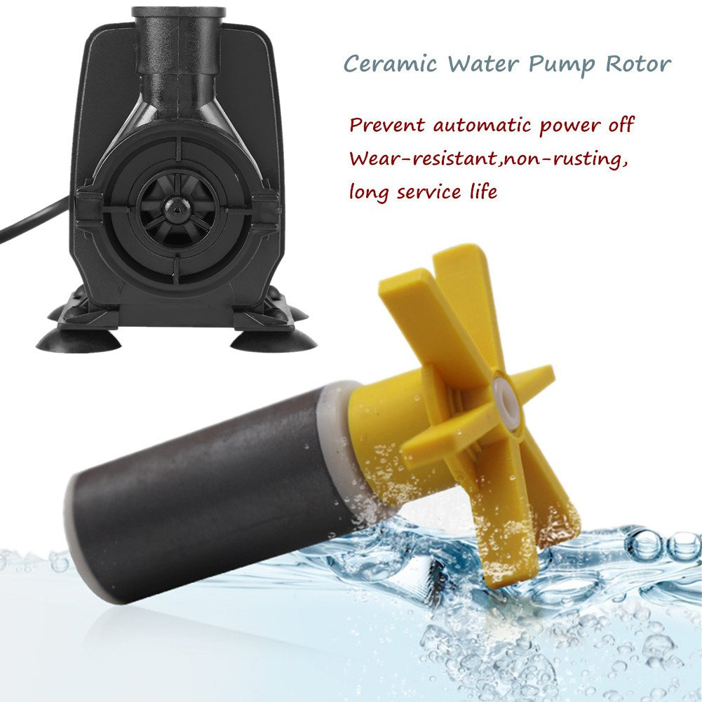 2500L//H 550 GPH 110V Submersible Water Pump 45W Ultra-Quiet Aquarium Water Pump for Fish Tank Garden Pond Fountain Hydroponic Systems