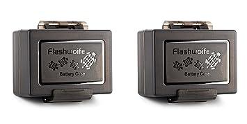 Flashwoife Turtle-UNBC2 Estuche Universal Impermeable Funda Protectora para la batería de la cámara hasta máx. 61 x 41 x 22 mm y Tarjetas de Memoria