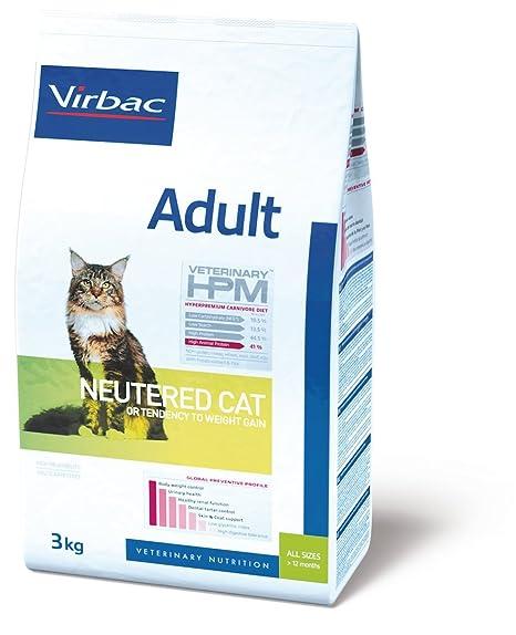 Virbac Veterinary HPM Alimento para gatos esterilizados, 12 kg