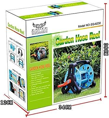 Rodillo recogemangueras y pared manguera carrete Outillage de jardín de jardín 37 cmx33cmx33 cm: Amazon.es: Jardín