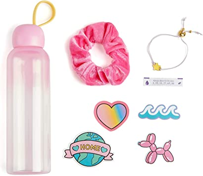 Stickers /& Scrunchy Lucky H2O Water Bottle for Teens WowWee Lucky Fortune Magic Series Reusable Water Bottle Lucky Bracelet