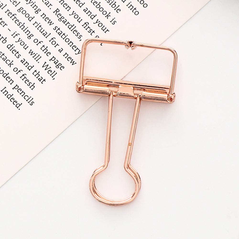 Aobiny Mini Metal Magnetic Clips , 1pc Metal Clip Cute Binder Clips Album Paper Clips Stationary Office, Holding Documents, Office Organizing , Small (Rose Gold)