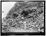 Reproduced 24 x 30 Photo Culebra Cut. View at Base Gold Hill, Showing Basaltic Columns Developed Steam Shovel. Cut in Mch. 1913 1938 Harris & Ewing a52