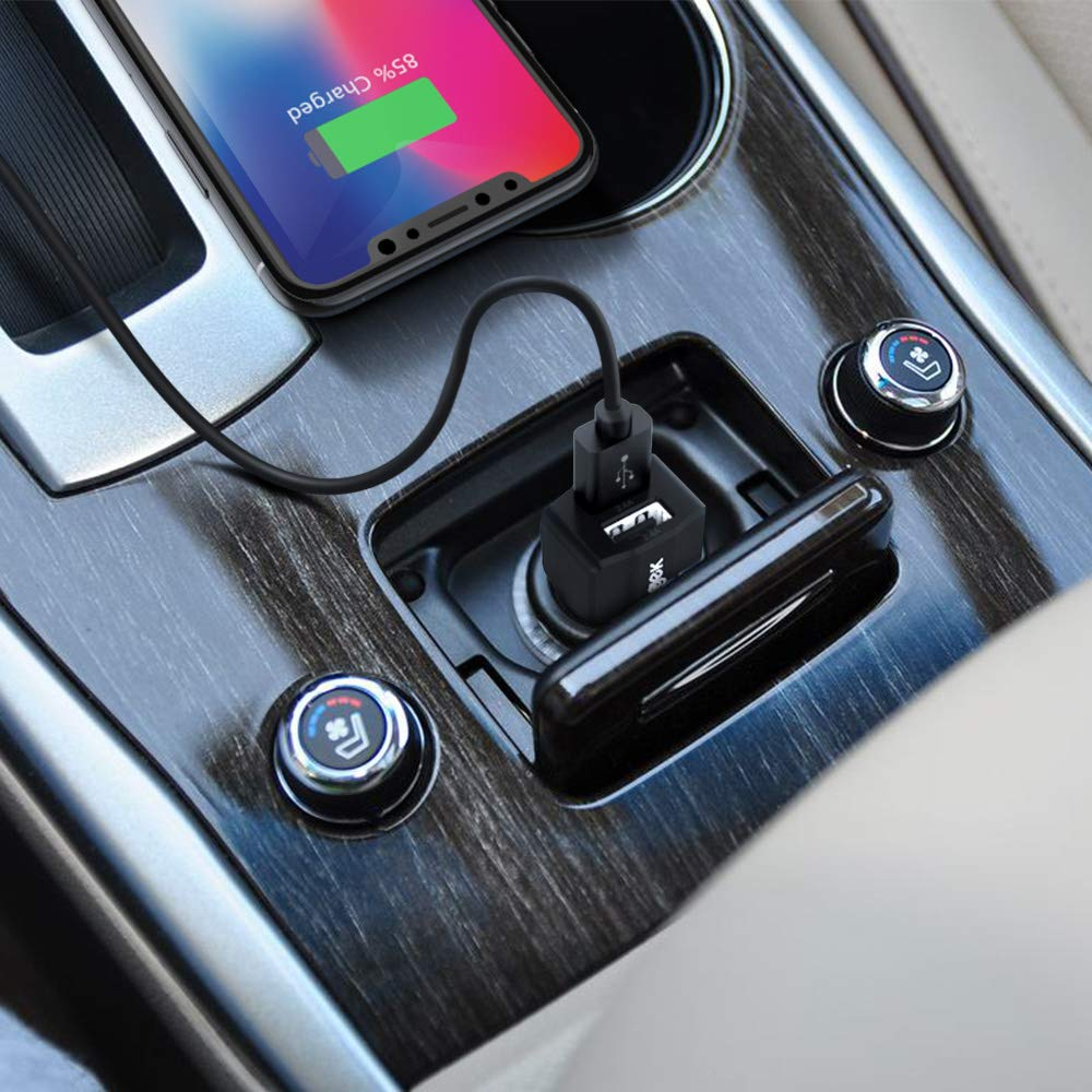 Car Charger Samsung Galaxy Note9 and More Android Phones and Tablets iPad Pro//Mini Vogek Dual-Port USB Car Phone Charger 4.8A//24W with Smart Identification for iPhone Xs//Max//XR