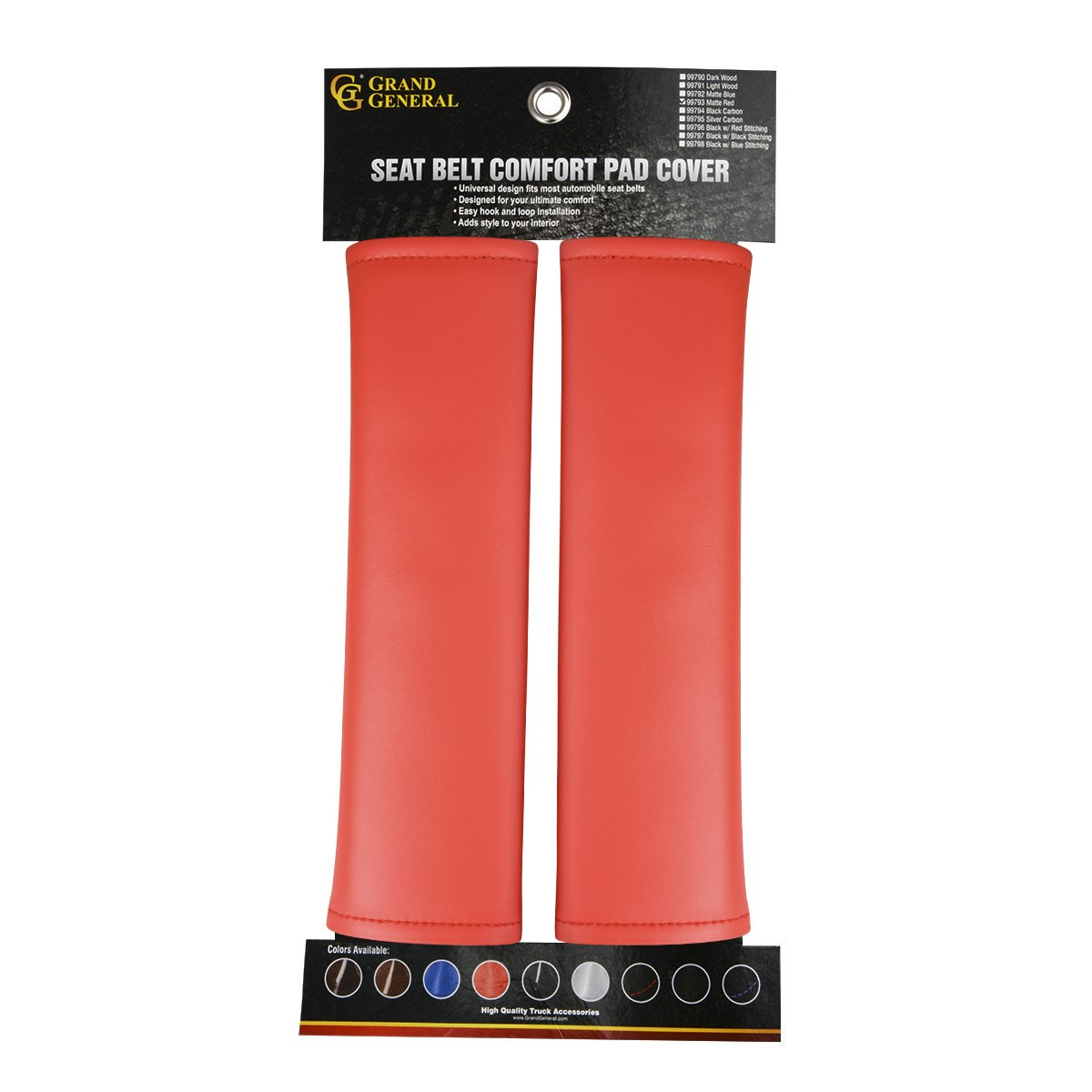 Grand General 99794 Seat Belt Comfort Pad Cover for Trucks Buses RVs and Utility Vehicles