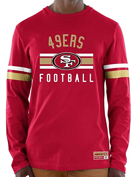 186274998d3 Image Unavailable. Image not available for. Color  Majestic San Francisco  49ers NFL Full Strike Men s Long Sleeve Crew Shirt
