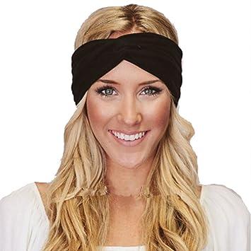 HENGSONG Women Lady Sport Yoga Headband Stretch Hairband Elastic Twisted Hair  Band Turban Hair Accessories ( d08c62bb30b