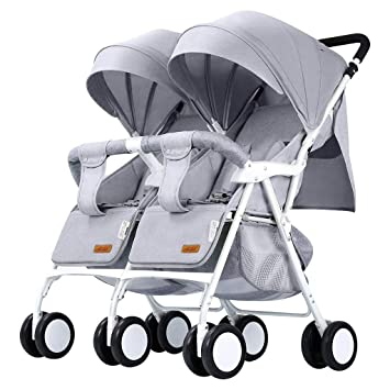 Cochecito de bebé doble - el carro doble plegable y liviano ...