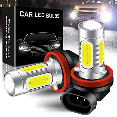 yifengshun 2pcs Cool Xenon White 6500K H11/H8 LED Bulbs for Fog Lights 7.5W COB Fog Lamp Driving DRL Lights 12V: Automotive
