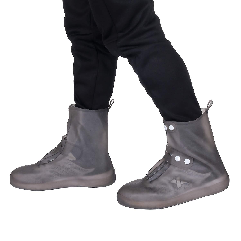 1 Pair Reusable Waterproof Shoe Covers Anti-Slip Overshoes Rain Boots Travel Rain Gear For Women