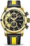 Megir Sports Classy Gold & Yellow Luxury Chronograph Men's Watch