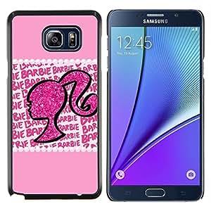 EJOOY---Cubierta de la caja de protección para la piel dura ** Samsung Galaxy Note 5 5th N9200 ** --Silueta Mujer Bling