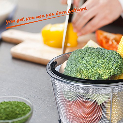 LATTCURE Insant Pot Accessories Steamer Basket 6 qt, Food Grade Stainless Steel Pressure Cooker Steam Basket for Vegetable with Silicone Handle/Non-slip Legs Fits IP InstaPot by LATTCURE (Image #4)