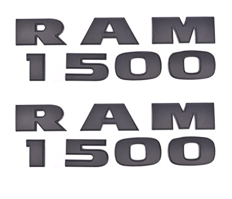 5x OEM Dodge RAM 2500 plus 5.7 Hemi 4x4 Emblems Badge 3D Emblem Decals Black