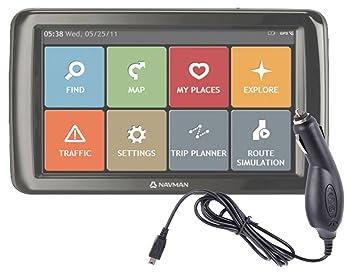 DURAGADGET Cargador De Coche De Conexión Miniusb Para Navegador GPS Navman Panoramic