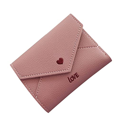 96b55def4766 Hangton Fashion Colorful Lady Lovely Coin Purse Solid Heart Clutch ...