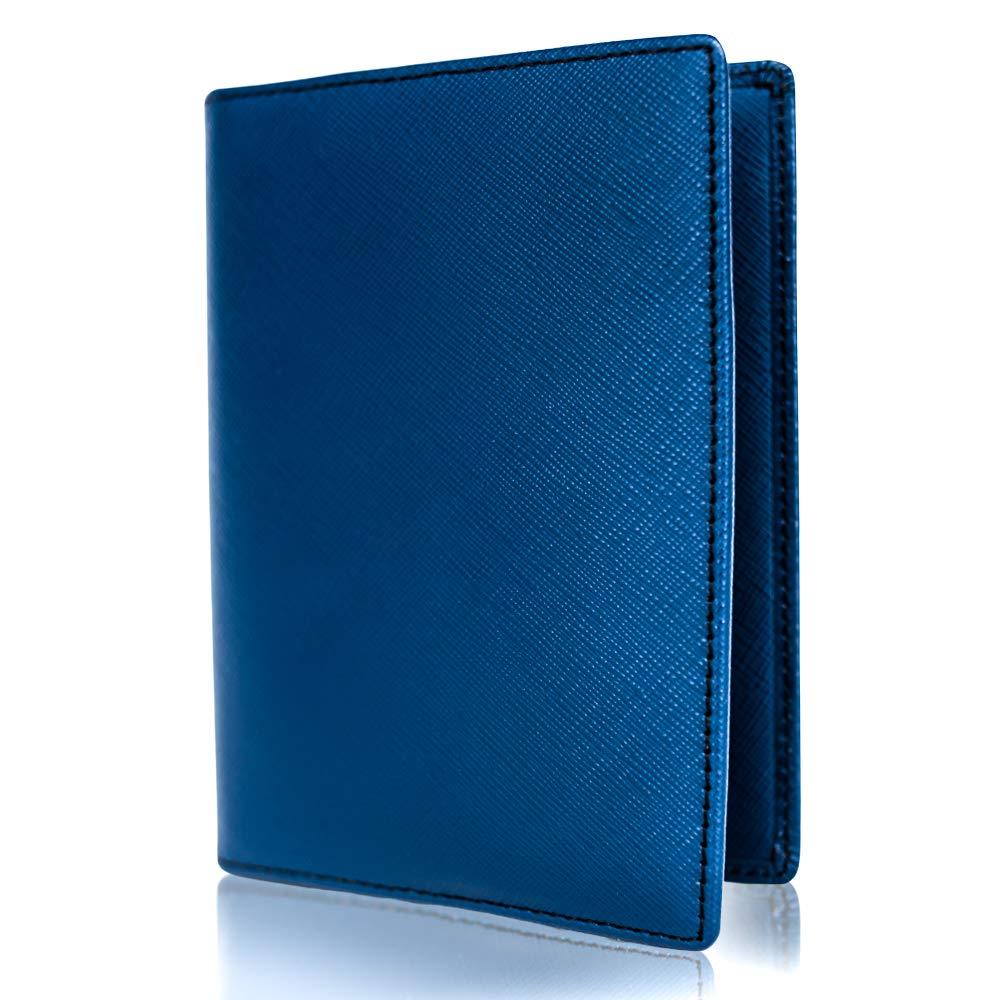 Inspiring Adventures Genuine Leather Passport and Credit Card Holder | RFID Blocking Bifold Wallet | Slim and Minimalist Design | Includes Unique Gift Box | For Men and Women by Inspiring Adventures