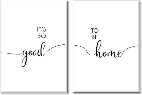4good Set Di Poster Con Diverse Scritte Stampe Con Frasi Motivazionali E Divertenti Decorazione Per Ufficio Cucina Soggiorno O Camera Da Letto Amazon It Casa E Cucina