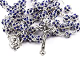 Best Nazareth Market Store Man Medallions - X8 Zircon Crystals Beads Rosary Catholic Necklace Holy Review