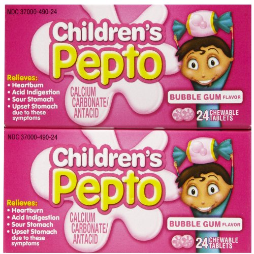 Chewable Tablets Bubble Gum (Pepto-Bismol Children's Chewable Tablets - Bubble Gum - 48 ct - 2 pk)