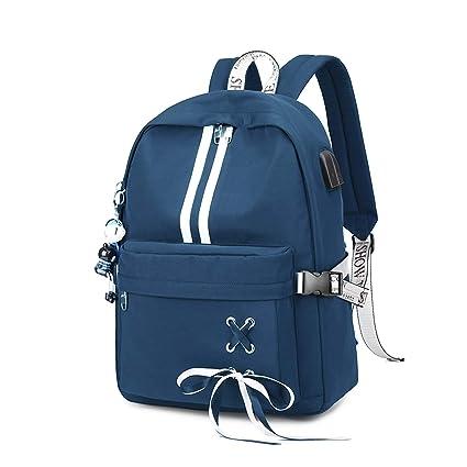 FANDARE Luminoso Mochila Mochilas Tipo Casual Bolsas Escolares Niña Bolsa de Viaje Bolsos de Mujer Adolescente Backpack School Bag Outdoor Viaje ...
