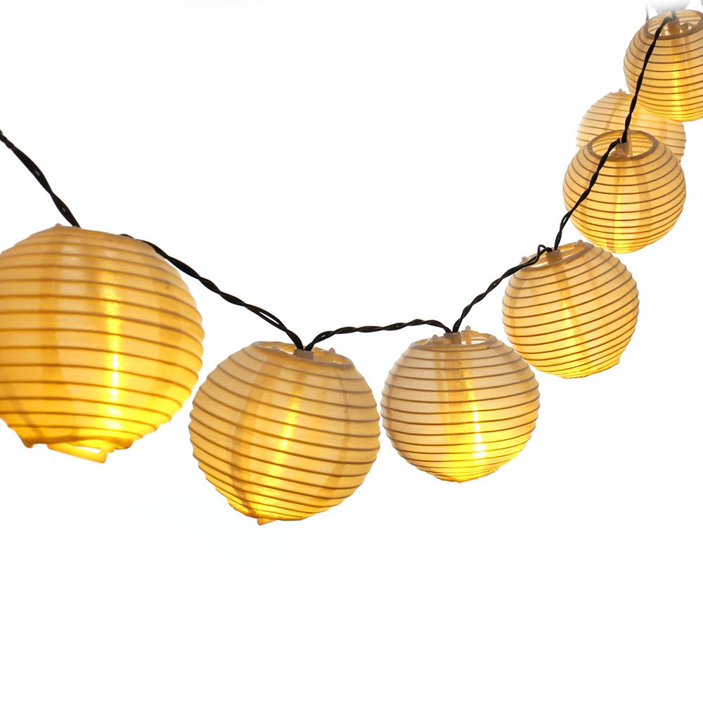LUCKLED Outdoor Fairy Lantern Solar String Lights, 19.7ft 30 LED Christmas Globe eBay