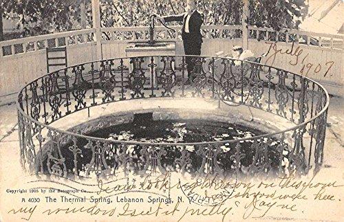 Lebanon Springs New York Thermal Spring Waterfront Antique Postcard K86134
