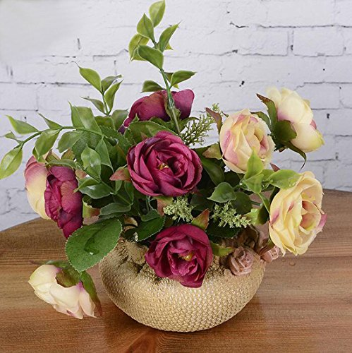 Mini-Artificial-Rose-Flowers-Bonsai-Plants-artificial-flowers-with-VaseDecoration-for-Living-roombedroomporchwindowsill