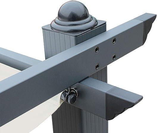 Pergola, Aluminio, Crudo, 3x3 m