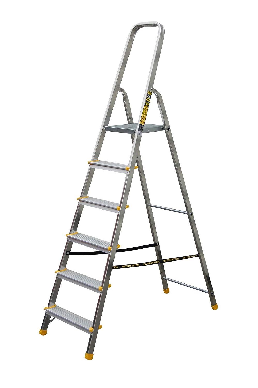 7 Stufen Leiter Aluleiter Stehleiter Haushaltsleiter Klappleiter Aluminium verschiedene Gr/ö/ßen