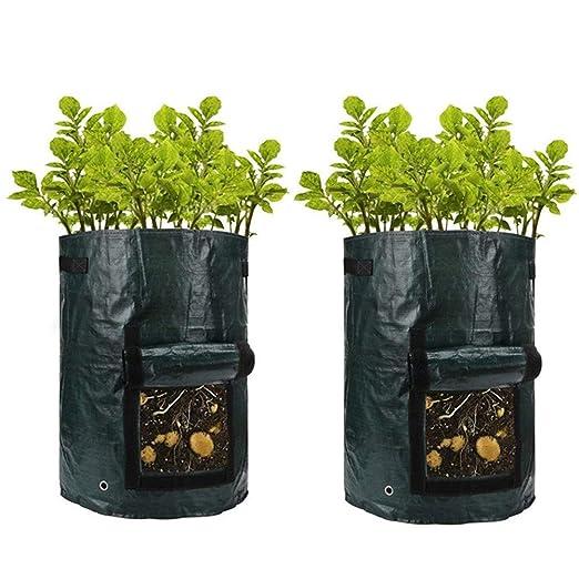 Bolsa de Cultivo de Plantas,Bolsas de Plantación de Patata a Prueba de Agua Bolsas de Cultivo Duradero Resistentes para Plantación de Hortalizas en ...