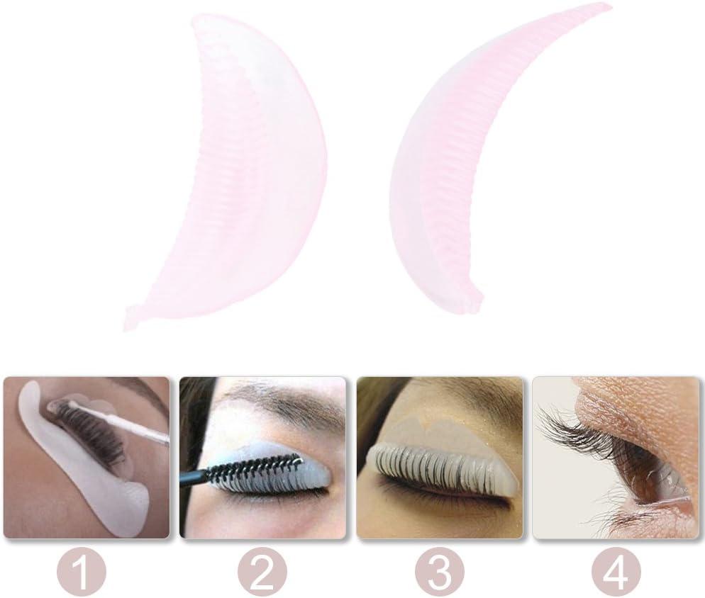 Yosoo 5 Pares pestañas de Silicona de la Permanente rizador Almohadillas Escudo de Maquillaje de pestañas Falsas Parches permanentes