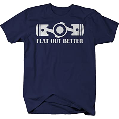 556 Gear Flat Out Better Boxer Engine Pistons Racing Tshirt - XLarge Navy: Automotive